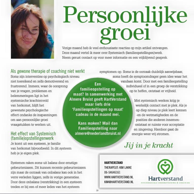 Familieopstellingen in Almere bruist