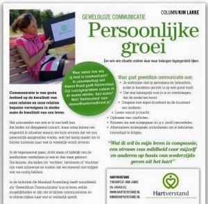 Column Geweldloze Communicatie in Almere Bruist